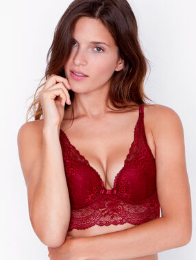 Soutien-gorge n°3 - triangle push up bordeaux.