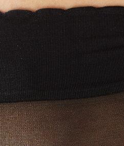 Paire de socquettes voile noir.