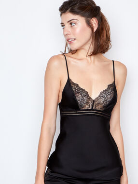 Satine lace top black.