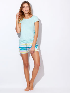 "Tee-shirt imprimé ""rêveuse"" bleu."