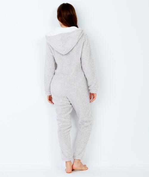 Polar jumpsuit with hood