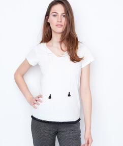 T-shirt pompoms blanc.