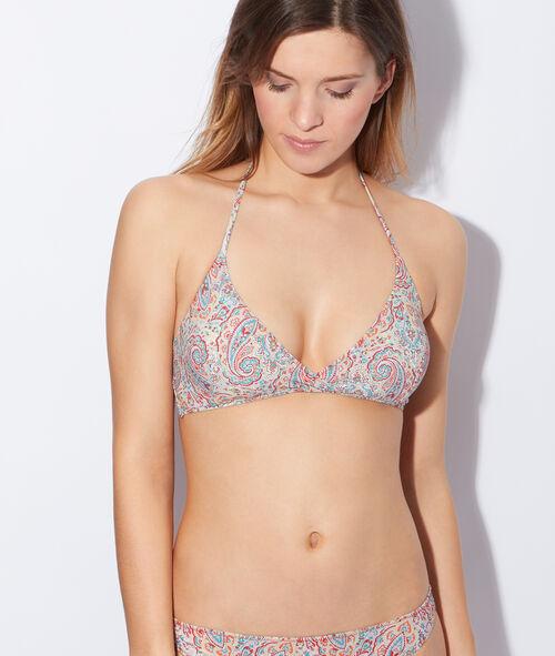 Haut de maillot de bain triangle croisé imprimé Liberty®