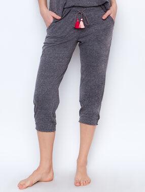 Pantalón con pompones c.gris.