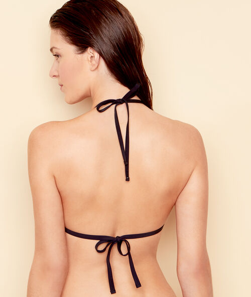 Haut de maillot de bain triangle drapé push up;${refinementColor}