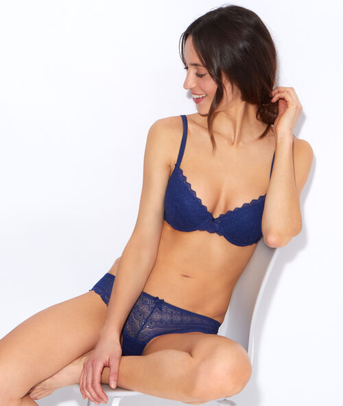 SOFT BRA: lace padded demi cup;${refinementColor}