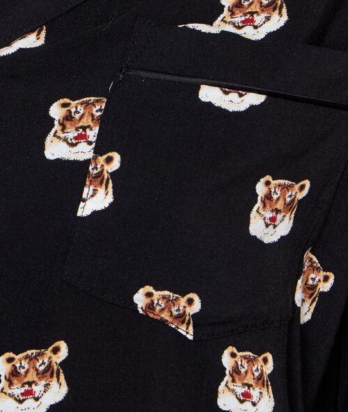 Tiger printed pyjama shirt