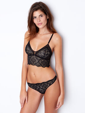 Lace bralette black.