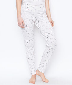 Printed trouser white.