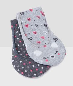 Calcetines estampados c.gris.