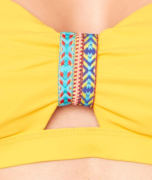 Haut de maillot de bain bandeau façon bustier bracelet azthèque;${refinementColor}