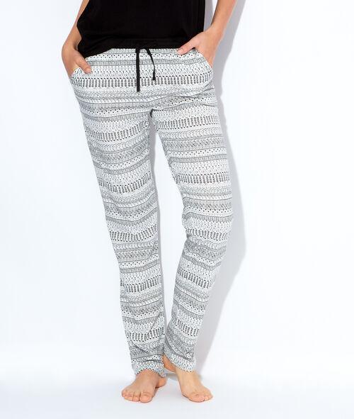Pantalon imprimé éthnique