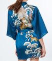 Déshabillé kimono imprimé tigre