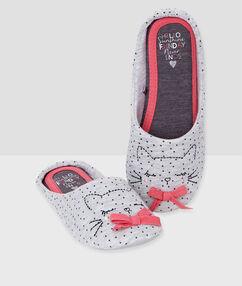 Zapatillas con detalle lazos c. gris.