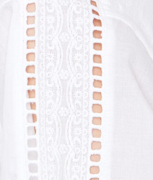 Déshabillé coton manches ajourées
