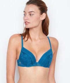 Push-up-bra blue.