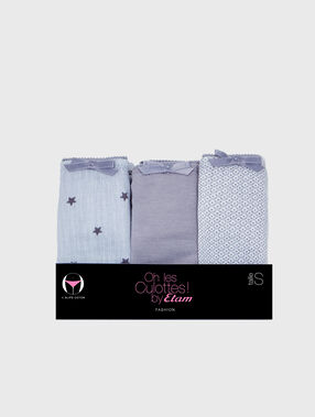 Pack of 3 knickers grey.