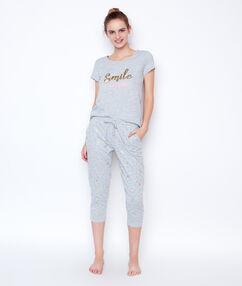 Spodnie w deseń z palmami gris.