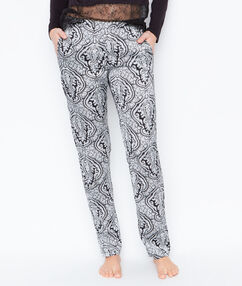 Luźne spodnie od piżamy w deseń noir.