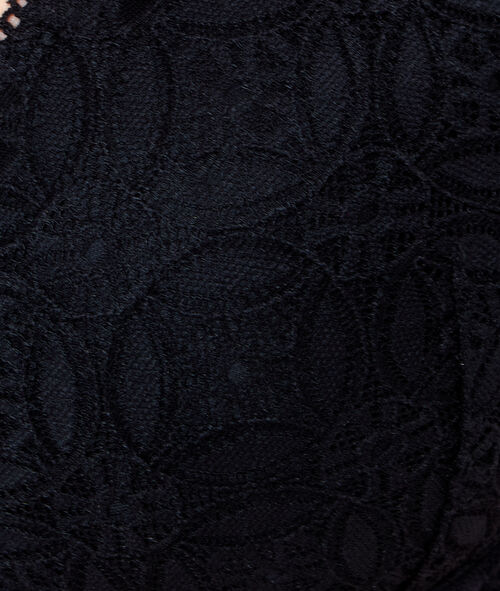 Lace triangle bra;${refinementColor}