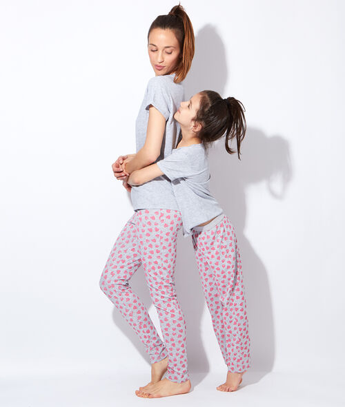 Pantalon imprimé coeurs