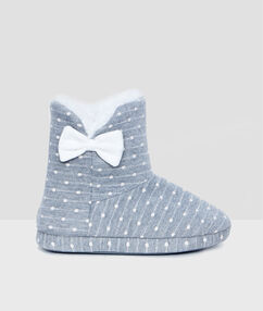 Slipper boots grey.