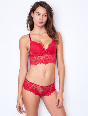 Lace magic up® bra red.