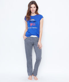 Pantalon wonder woman gris.