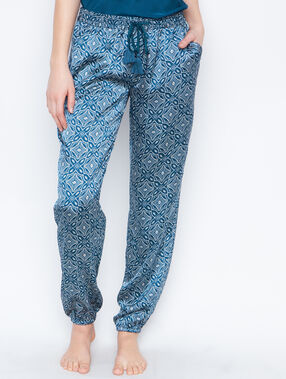Satine printed pyjama pants blue.