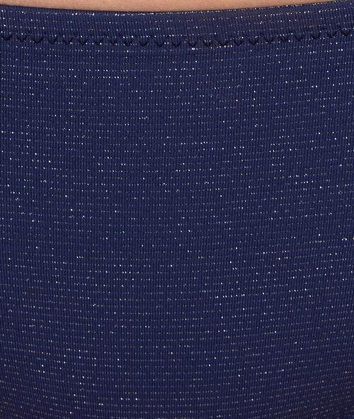 Culotte de bain marine et fibre métalisées;${refinementColor}