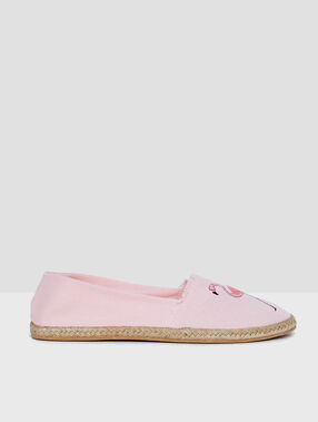 Espadrilles pink.