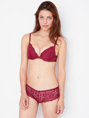 Lace magic up® bra burgundy.