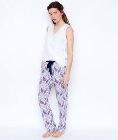 Spodnie w deseń turecki blanc.