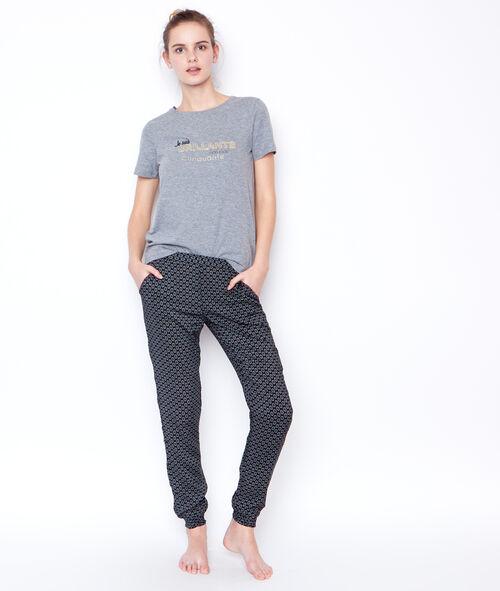Printed trouser;${refinementColor}