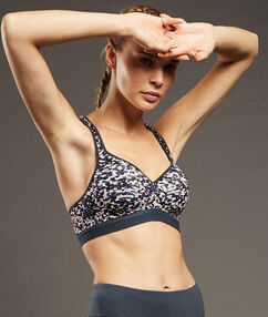 Sport bra, maximum support rose.
