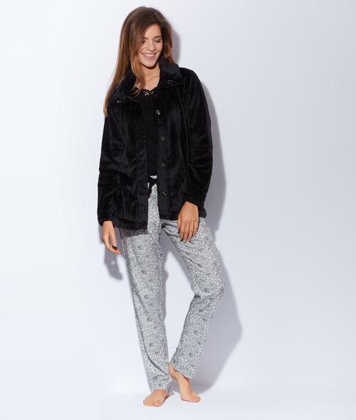 Pyjama 3 pièces, veste polaire