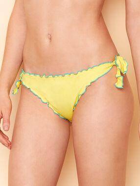 Culotte de bain uni avec nouettes jaune soleil.