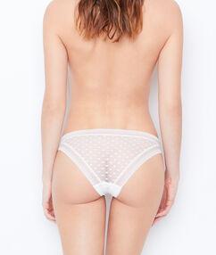 Culotte en dentelle blanc.