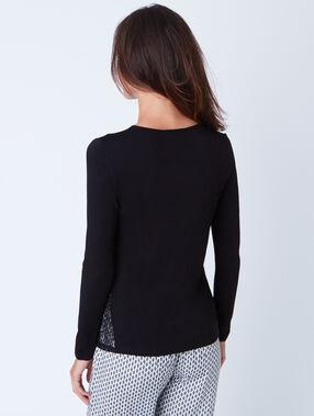 Pyjama top black.