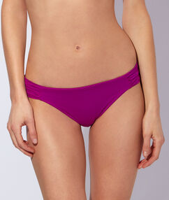 Culotte de bain unie violet.