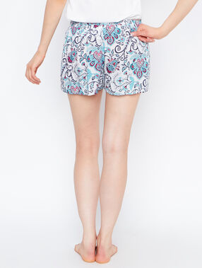 Printed short white.