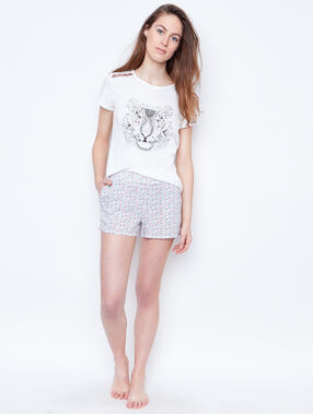 Printed t-shirt white.