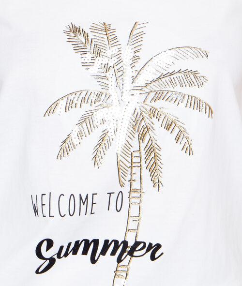 Top imprimé palmiers;${refinementColor}
