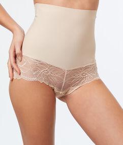 Culotte taille haute sculptante nude.