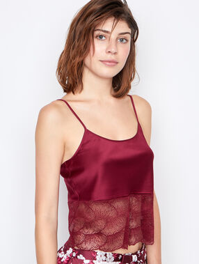 Satine top burgundy.