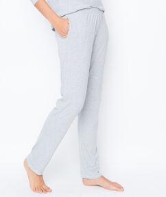Pantalon imprimé looney tunes gris.