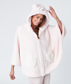 Poncho monstre ultra doux rose.