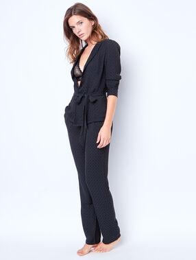 Pyjama jacket black.