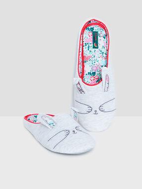 Zapatillas conejo c.gris.