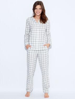 Printed pyjama pants beige.